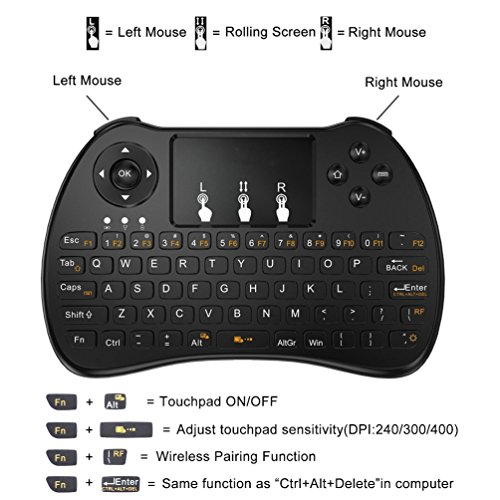 Henscoqi H9 Keyboard Mini Wireless Multitouch Pad Air Mouse