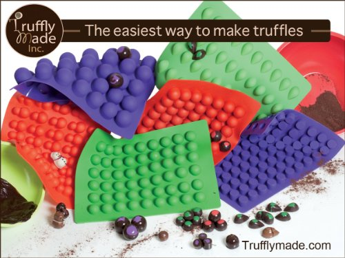 Truffly Made. Mini Cheesecake Round Chocolate Truffle, Jelly and Candy Mold, 88 cavities, One step candy pop-out by Truffly Made (Image #2)'