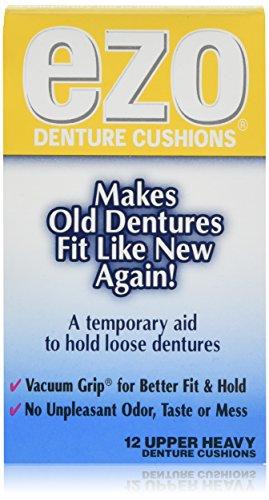 Ezo Denture Cushions Upper Heavy 12 Each (Pack of 6) - Heavy Wax