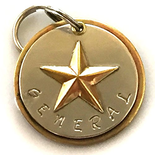 Personalized Pet ID Tag - General - Raised Brass Star by Claude's Paws