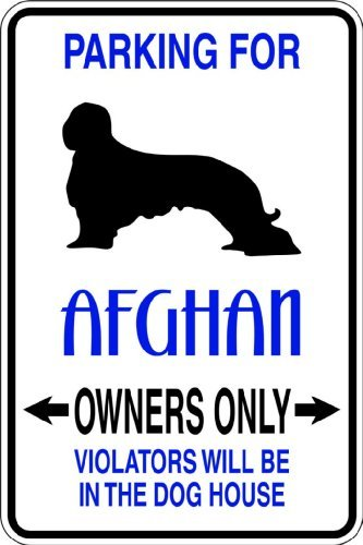 Parking For Afghan Picture Art – Parking Signs - Peel & Stick Sticker - Vinyl Wall Decal – Size : 9 Inches X 18 Inches - 22 Colors Available (Afghans Picture)