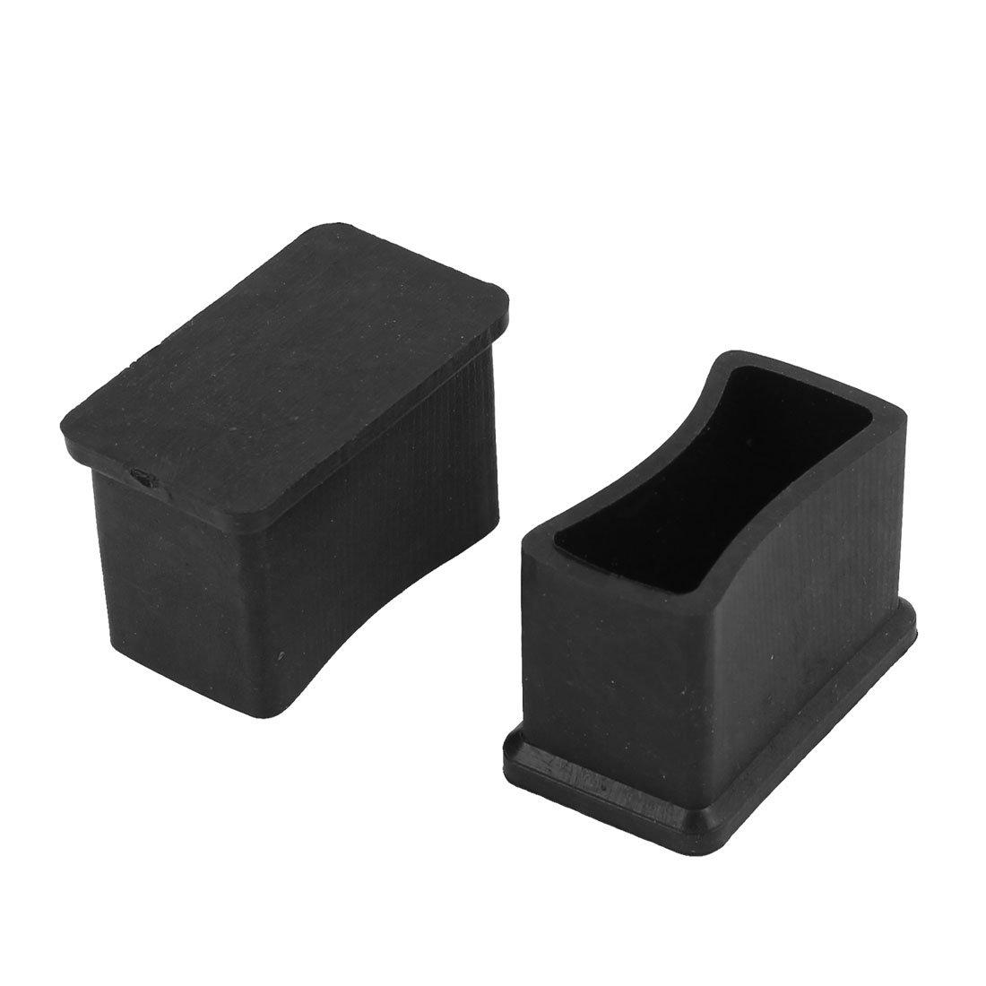 Amazon com  Rubber Rectangular Furniture Foot Cover Protector 30mm x 15mm 2  Pcs  Kitchen   DiningAmazon com  Rubber Rectangular Furniture Foot Cover Protector 30mm  . Rubber Chair Foot Covers. Home Design Ideas