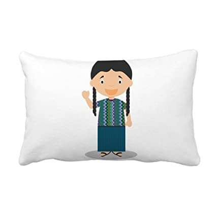 Amazon DIYthinker Long Pigtail Guatemala Cartoon Throw Lumbar Cool Long Lumbar Pillow Insert