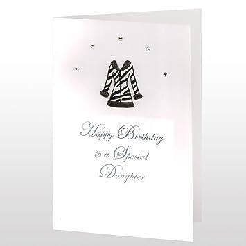 Birthday Card Happy Birthday To A Special Daughter Zebra Print