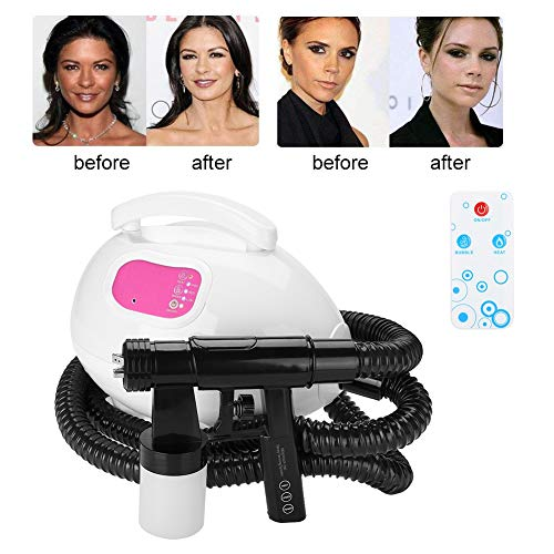 Whitening Machine,Tan Airbrush HVLP Air Spray Gun Machine Tanning Kit System, Black Spray-Tanning System, Professional Face Tanning Kit Sunless for a Bronzed Skin(US Plug) ()