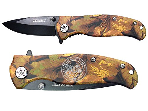 NDZ Performance State of West Virginia Engraved TAC-Force TF-420JC Jungle Camo Speedster Assisted Opening Folding Pocket Knife (Pocket Knife Engraved Camo)
