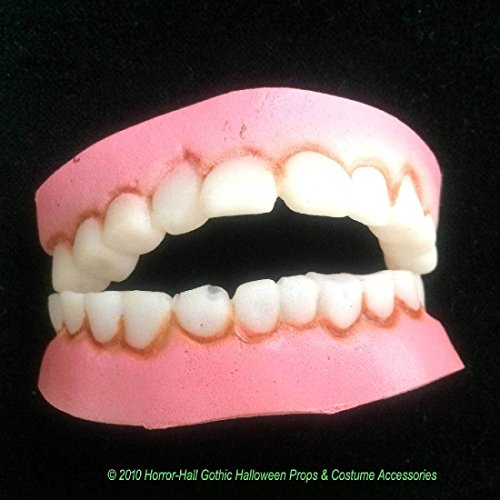 Funny Nerd Geek-BUCK TEETH DENTURES-Redneck Hillbilly Costume-Kids Teens-SMALL ()