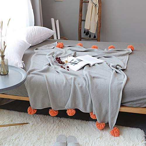 Yunyilian 綿ニット毛布エアコン毛布春夏学生シングル薄い毛布オフィスソファ昼寝毛布 (Color : Grey, サイズ : 130x160cm) B07R1SKTN8 Grey 130x160cm