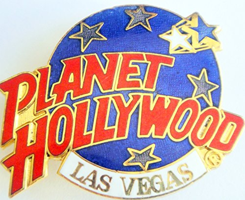 Dark Blue Globe Logo Pin Planet Hollywood Las Vegas - Las Planet Stores Hollywood Vegas