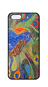 TUTU158600 Customized Dual-Protective iphone 5 cases for guys - Deciduous blue butterfly