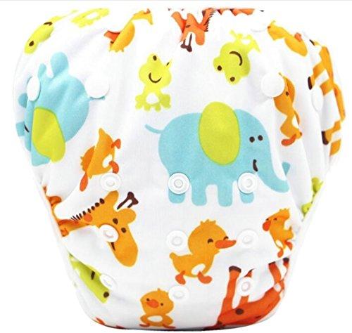 TTYLLMAO Baby Snap Reusable Absorbent Swimsuit Diaper 1 OS