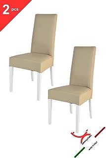 Set 2 sedie per cucina, sala da pranzo, moderne, con robusta ...