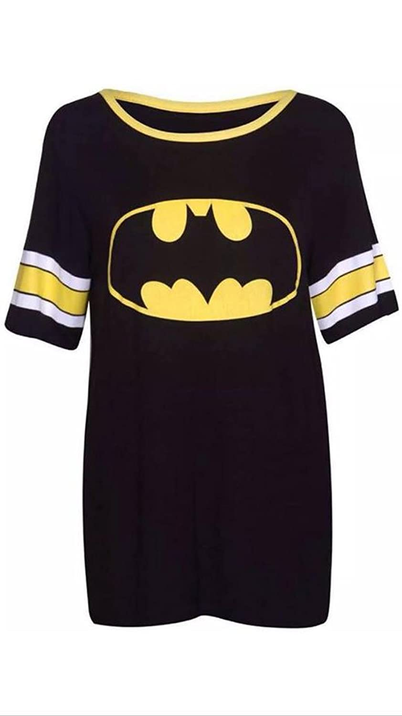 new styles d4eb8 9fbe4 Damen T-Shirt Top Superman Batman Superheld Logo Aufdruck ...