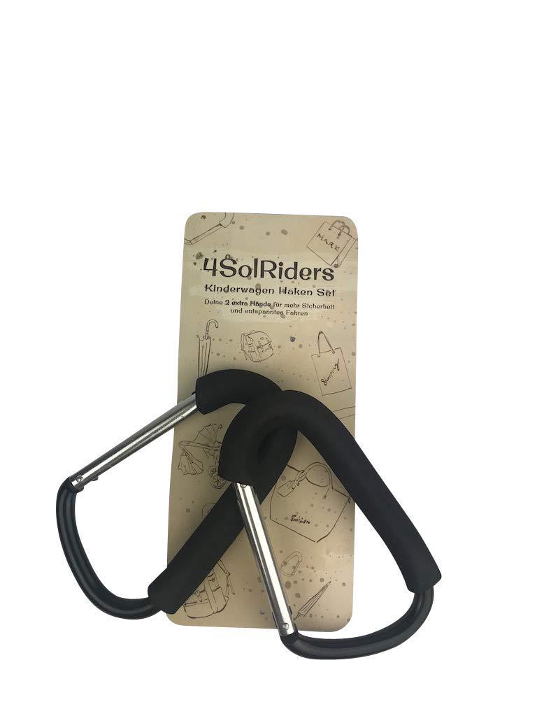 Set di 2 ganci universali per passeggino zaino e borsa 4SolRiders/® borsa per la spesa