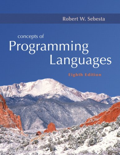 Concepts of Programming Languages (8th Edition)