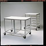 New Age Aluminum Pan Rack With Poly-Top and Angle Pan Slide - 20 1/2''L x 26''W x 33 1/2''H