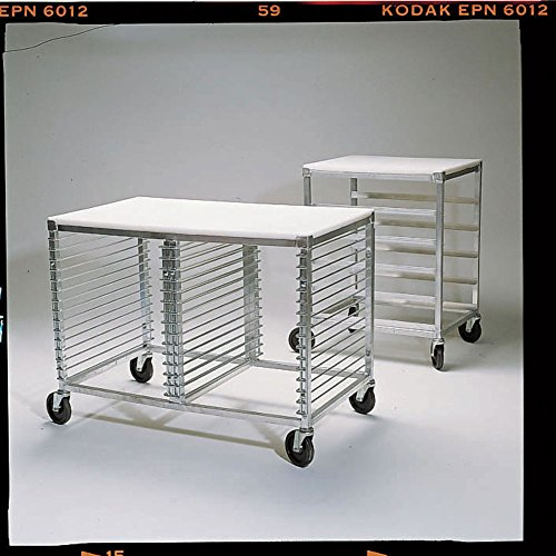 New Age Aluminum Pan Rack With Poly-Top and Angle Pan Slide - 20 1/2''L x 26''W x 33 1/2''H by NEW AGE INDUSTRIAL CORP