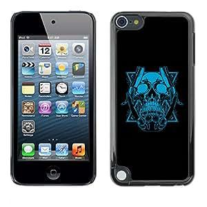 """For Apple iPod Touch 5 , S-type Azul del cráneo y Cuchillas"""" - Arte & diseño plástico duro Fundas Cover Cubre Hard Case Cover"""