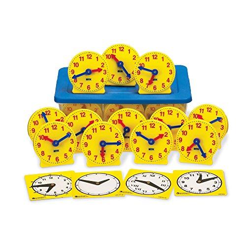 Mini Judy Clocks - ETA hand2mind Geared Clocks Classroom Kit (Set of 24)