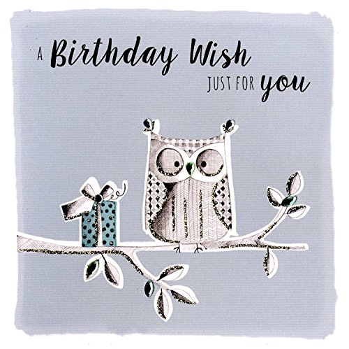 - Owll Birthday Wishes Greeting Card Hand-Finished Notting Hill Cards
