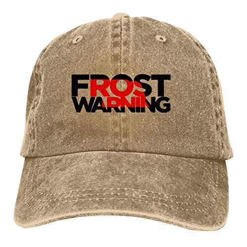 Heiazha Hipster Printed Cowboy Cap,Scott Frost Warning Nebraska Husker Football Denim Hat Snapback Cap for Adult Mens Womens]()