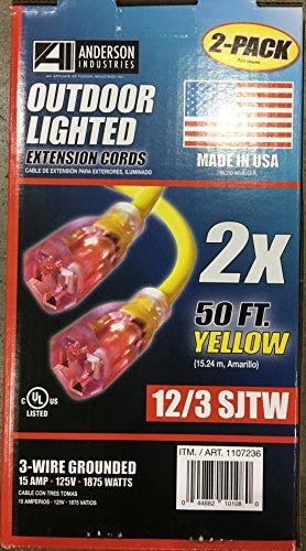Flexon Industries / 2 PK 50 Ft Yellow Extension Cords
