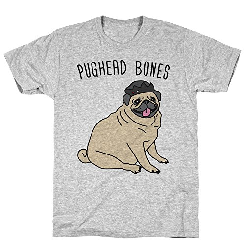 LookHUMAN Pughead Bones Large Athletic Gray Men