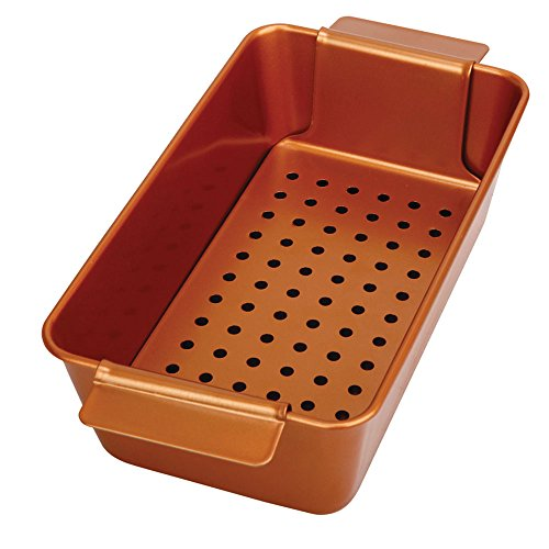 Non Stick Meat Loaf Pan - Copper Meatloaf Pan