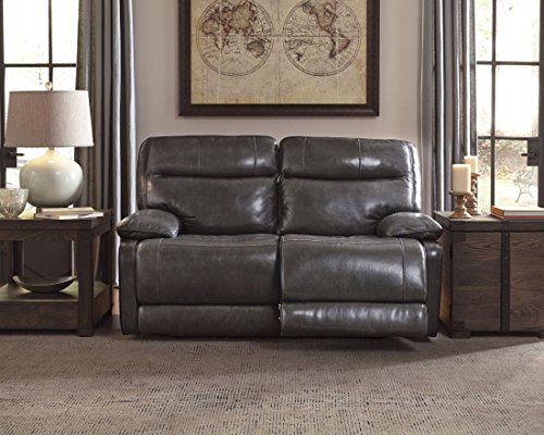 Ashley Furniture Signature Design - Palladum Reclining Love Seat - Power Recliner Sofa - Contemporary Style - Metal - Sofa Reclining Contemporary