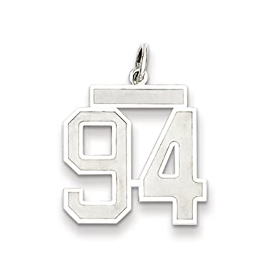 Sterling Silver Medium Polished Number 94 Charm