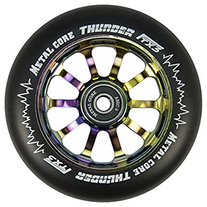 Metal Core Rueda Thunder Black para Scooter Freestyle, Diámetro 120 mm (Rainbow)