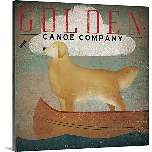 Golden Dog Canoe Co Canvas Wall Art Print, 30 x30 x1.25