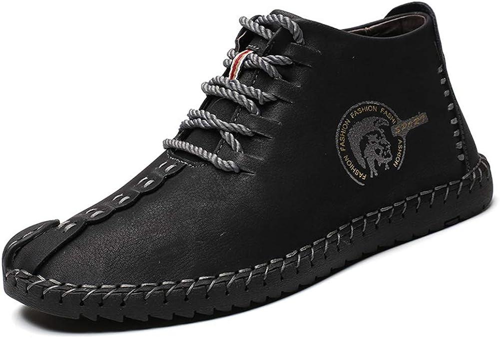 uirend Cuero Zapatos Hombre - Mocasines Oxfords Zapatillas Zapato Negocio Vestir Espacio de Trabajo Cuero Partido Casuales Bajos de Bandas Negro