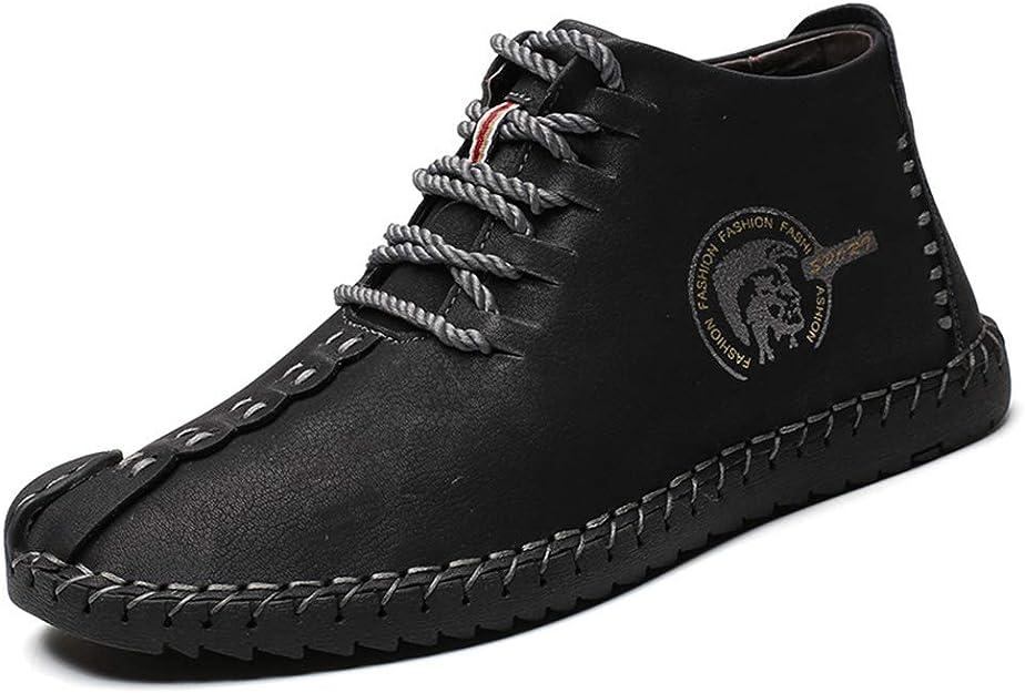 TALLA 43 EU. uirend Cuero Zapatos Hombre - Mocasines Oxfords Zapatillas Zapato Negocio Vestir Espacio de Trabajo Cuero Partido Casuales Bajos de Bandas Negro