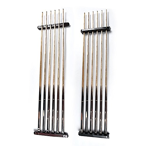 UEB-Billiard-Pool-Wall-Mount-Hanging-6-Cue-Sticks-Wood-Rack-Holder-for-Snooker