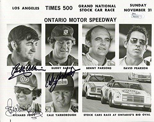 RICHARD PETTY+YARBOROUGH+BOBBY ALLISON HAND SIGNED 8x10 PHOTO RARE - JSA Certified - Autographed Photos