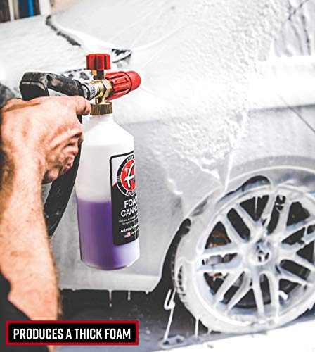 Adam's Red Foam Cannon - Produces Unbelievably Thick Foam - Adjustable Air Intake Valve and Fan Pattern for Optimal Car Washing (Foam Cannon & Snub Nose Combo) by Adam's Polishes (Image #3)