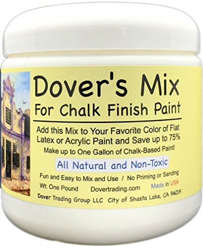 Green Paint Milk (Chalk Finish Paint Mix by Dover's - Add to any Color of Flat Latex or Acrylic Paint to Make 1 Gallon of Inexpensive Chalk Furniture Paint- Save 75% Over Ready-Made - All Natural and Non-Toxic)