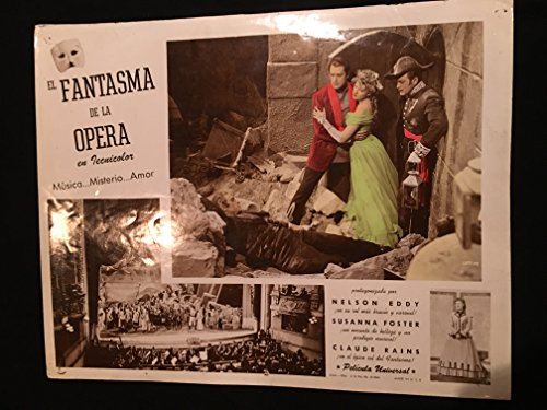 Phantom Of The Opera 1943 Original Vintage Photo Lobby Card Movie Poster, Spanish, Nelson Eddy Nelson Eddy Films