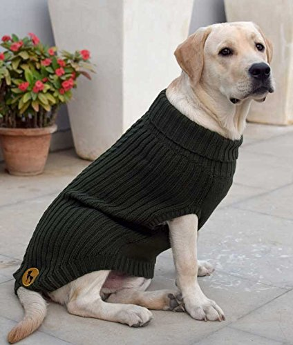 Huft Woolies Dog Sweater Olive Green Extra Large Suitable For Dog