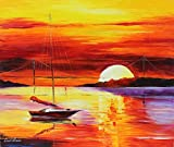 GOLDEN GATE BRIDGE BY THE SUNSET is the ONE-OF-A-KIND, ORIGINAL hand painted oil painting on Canvas by Leonid AFREMOV