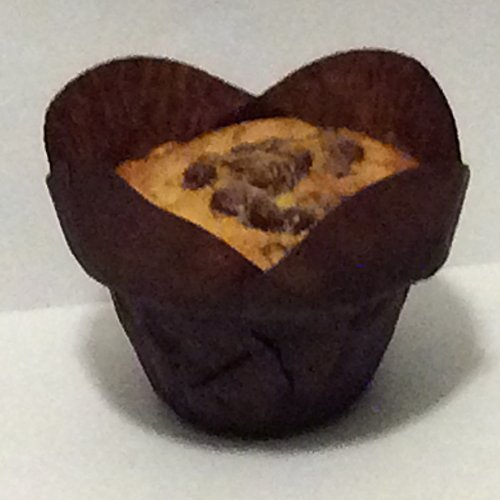Brown Tulip Baking Cup Flower Shape Tulip Cupcake Muffin ...