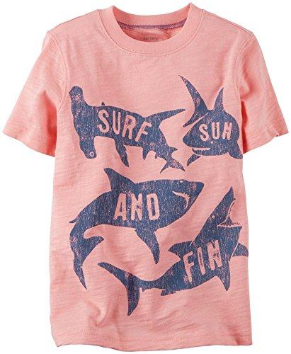 Carter's Little Boys' Shark Tee (Toddler/Kid) - Light Pink - 5