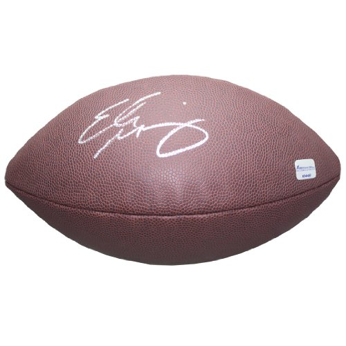 Eli Manning Autographed Football SC #10448 by Sports Collectibles