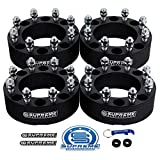 Supreme Suspensions - (4pc) 2000-2010 GMC Sierra 2500HD 2'' Wheel Spacers 8x6.5'' (8x165.1mm) with M14x1.5 Studs [Black]