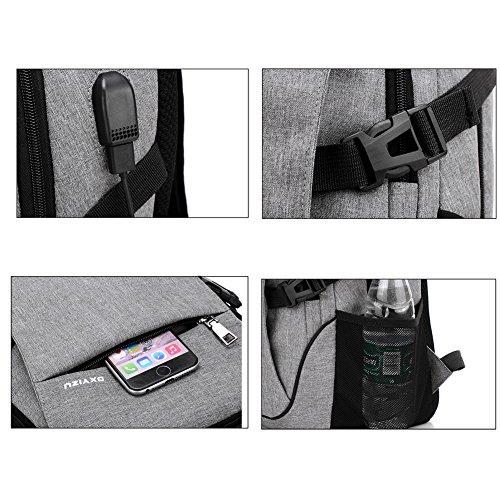 Abshoo Classical Casual Laptop Backpack for College Vintage Backpack School Bookbag (Black)