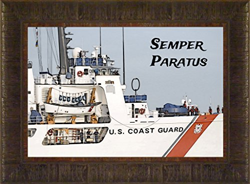 Coast Guard Station (Semper Paratus By Todd Thunstedt 17.5x23.5 Patriotic Coast Guard Naval Air Station Cruiser Cutter Soldier Military Key West War Constitution Department of Washington Lincoln Reagan VFW Legion Bald Eagle Helicopter General West Point Sailor Airman Corps Fleet Submarine Parachute Police Policeman Humvee Armored Seal Ranger Battleship Destroyer Pentagon National Special Op Academy Top Gun Base Fort Hood Bragg Campbell Benning Camp Pendleton Eglin AFB Naval Annapolis Warfare F22 Raptor Pilot Patches Stripes Uniform Bible Religious Quote Psalm Poem Christian Framed Art Print Wall Décor Picture)