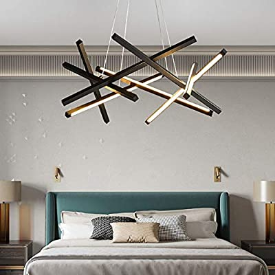 Chandelier - Nordic Character Black And Gold Metal ...