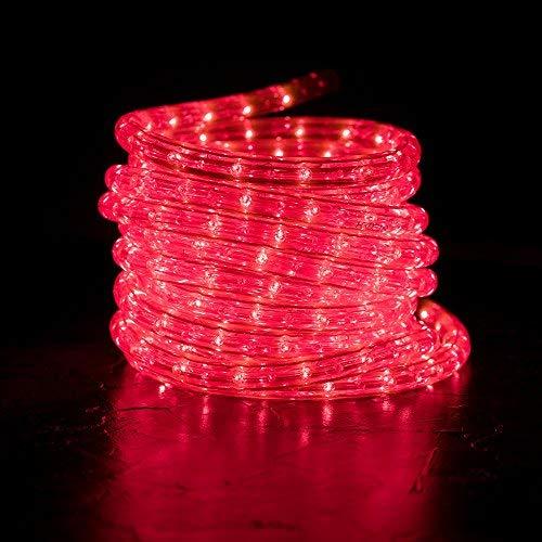 West Ivory 20ft 240 LEDs Pink Rope Lights, Waterproof Indoor Outdoor LED Accent Garden Party Decoration Lighting | ETL Certified ()
