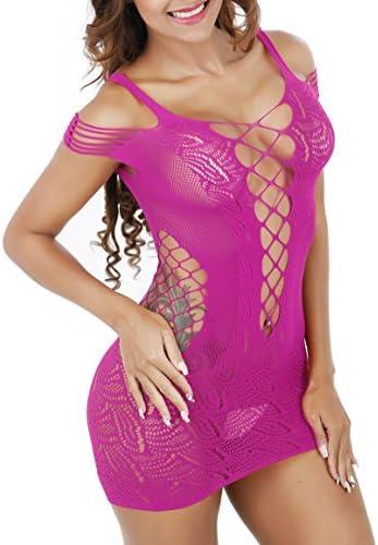 Lemongirl Frauen Net Bodysuit Free Size Kleider Nachtwäsche für Damen Babydoll Bodysuit
